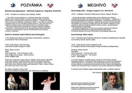 POZVÁNKA MEGHívó - Spolok segedínskych Slovákov
