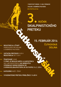 skialpinistického preteku