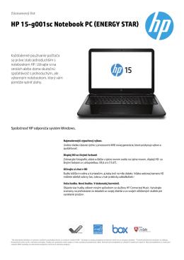 PSG Consumer 1C14 Notebook Datasheet - HP