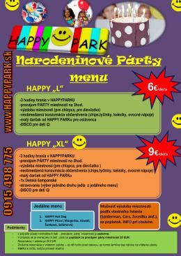 Narodeninové Párty menu
