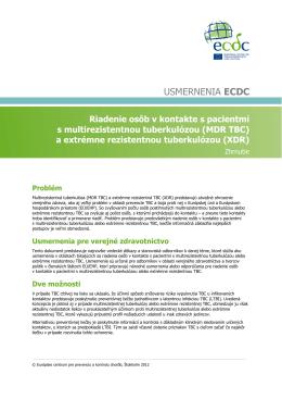USMERNENIA ECDC