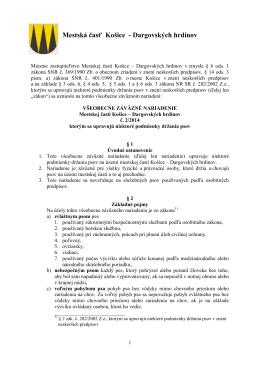 VZN 2/2014 o podmienkach držania psov