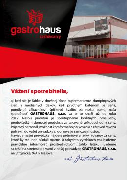 váš Gastrohaus team