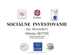 Sociálne investovanie