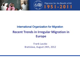 Key trends in irregular migration