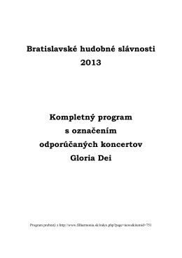 Kompletný program
