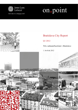 Bratislava City Report – Q1 2012