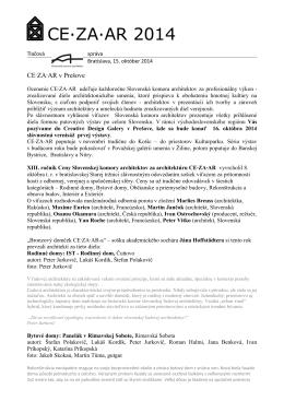 Tlačová správa CE.ZA.AR v Prešove