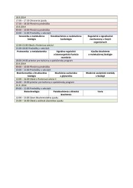 18.9.2014 17:00 – 17:30 Otvorenie zjazdu 17:30