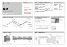 SH1 - montážny návod