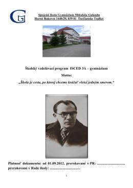ŠKVP - Školský vzdelávací program