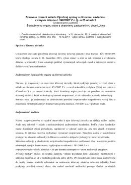 Správa o overení súladu Výročnej správy s účtovnou závierkou