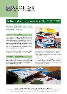 Schválenie a zverejnenie účtovnej závierky za rok 2013