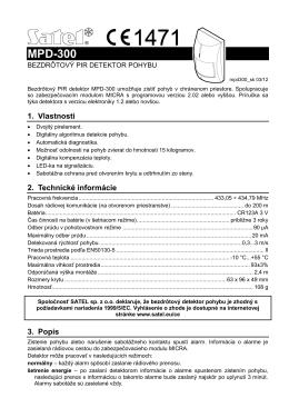 Manuál MICRA PIR detektor_SK