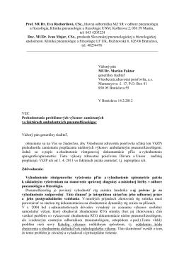 Prof. MUDr. Eva Rozborilová, CSc., hlavná