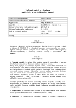 Interná smernica 3/2012