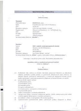 mandátna zmluva, suma bez DPH