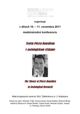 Teória Pierra Bourdieua v sociologickom výskume