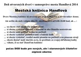 21.10.2014 Deň otvorených dverí samosprávy. 10. ročník