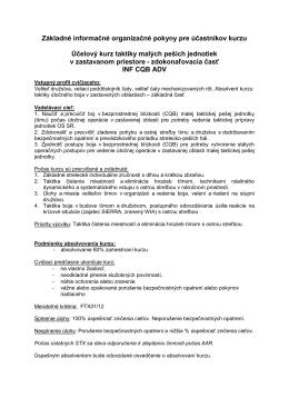 INF CQB ADV [pdf] - Centrum výcviku Lešť