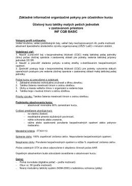 INF CQB BASIC [pdf] - Centrum výcviku Lešť