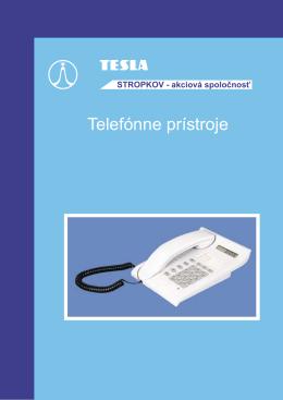 Telefónne prístroje