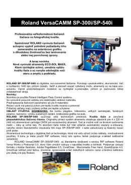 Roland VersaCAMM SP-300i/SP-540i