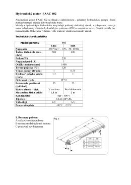 Hydraulický krídlový pohon 402