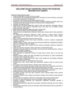 28 Základné zásady pri používaní MVx