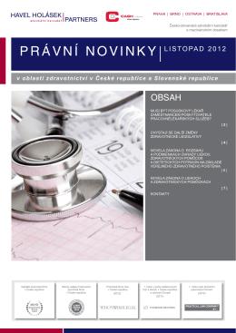 11-2012 Právní novinky - Havel, Holásek & Partners