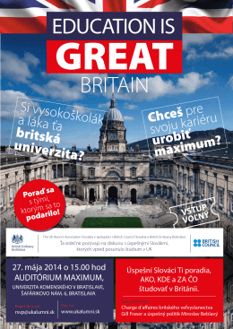 Study in UK1 - UK Alumni Association Slovakia