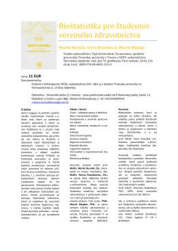 Bioštatistika pre študentov verejného zdravotníctva