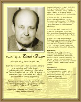 PaedDr. Mgr. Art. Pavol Bagin