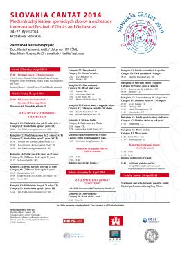 slovakia cantat 2014 - Amazon Web Services