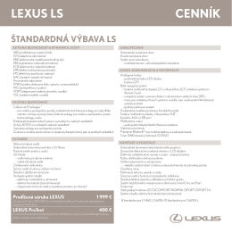 LexUs Ls Cenník