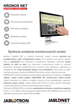 KRONOS NET - Jablotron
