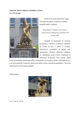 Pamätník Jánovi Golianovi a Rudolfovi Viestovi VÚ