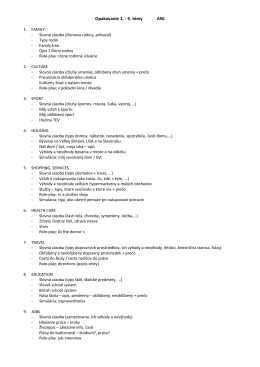 Opakovanie 1. - 9. témy ANJ