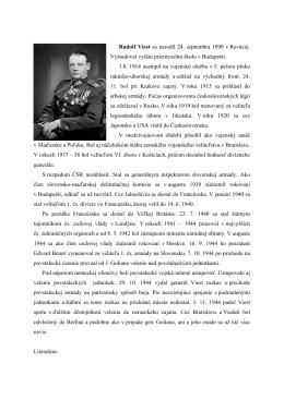 Rudolf Viest sa narodil 24. septembra 1890 v