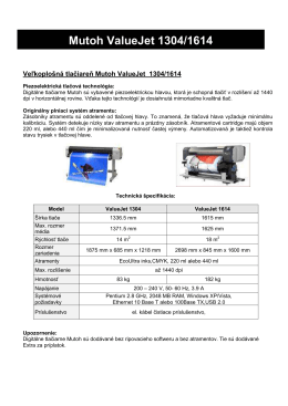 Mutoh ValueJet 1304/1614