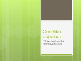 Genetika populácií