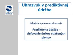 Ultrazvuk v prediktívnej údržbe