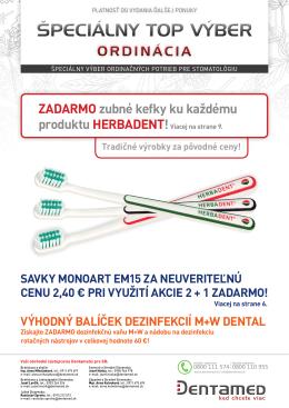 ZADARMO zubné kefky ku každému