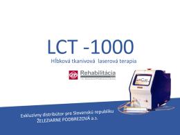 Viac informácií o LCT 1000