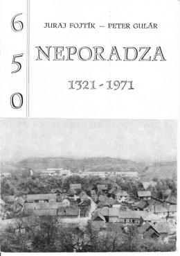 N(EPOIRADZA - Obec Neporadza