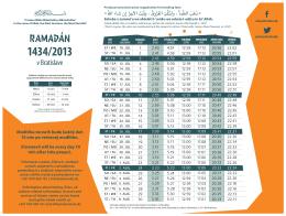 RAMADÁN - Islamweb.sk