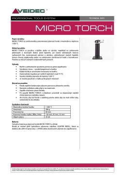 TECH INFO - MICRO TORCH