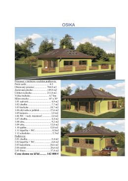 Cena domu na kľúč......... 142 000 €