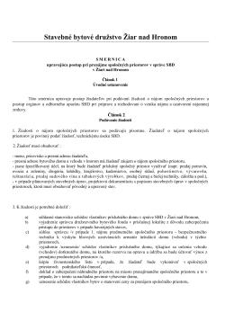 Smernica 14 - SBD Žiar nad Hronom
