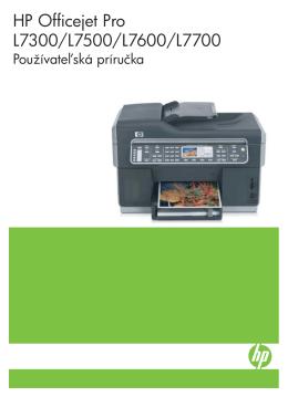 HP Officejet Pro L7300/L7500/L7600/L7700